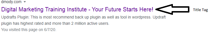 Title Tag - On-Page SEO